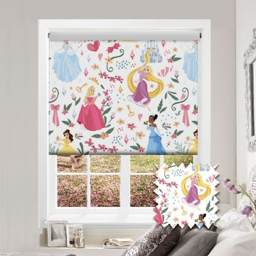 Disney Princess Roller Blind Patterned Disney Blackout Fabric